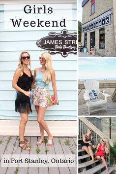 TRAVEL - Girls weekend in Port Stanley, Ontario - mom getaway to the most beautiful beach town in Canada Family Vacation Spots, Girls Vacation, Vacation Trips, Vacation Travel, Girlfriends Getaway, Girls Getaway, Traveling With Baby, Travel With Kids, Girls Weekend