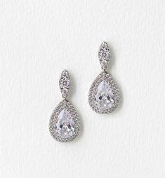 margaux teardrop halo earrings