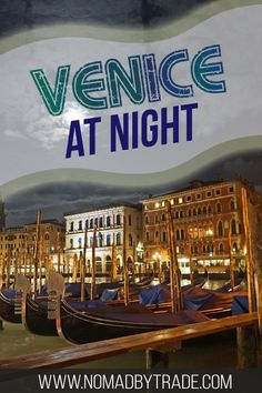 Exploring Venice, Italy at night is a perfect way to fall in love with the city and its canals. All of its famous landmarks like the Piazza San Marco, St. Mark's Basilica, and winding canals are lit up and more beautiful than ever. Check out these photos Italy Travel Tips, Europe Travel Guide, Italy Destinations, Best Travel Guides, Famous Landmarks, Pompeii, Romantic Travel, European Travel, Venice Italy