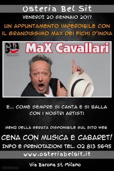 Max Cavallari 20 gennaio 2017 Osteria Bel Sit - Google+