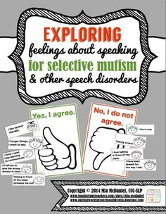 Exploring Feelings about Speaking-for Selective Mutism & o