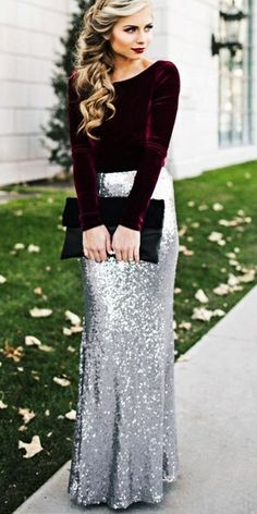 Winter Wedding Guest Dresses:15 Best Looks ❤ winter wedding guest dresses with sleeves classy sequins skirt lulus ❤ Full gallery: #wedding #guestdresses #winterwedding
