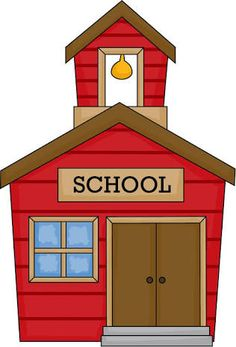 free clip art of an old fashioned little red school house sweet rh pinterest com school house clipart image school house clipart transparent