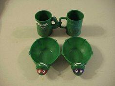Teenage Mutant Ninja Turtles 2 Cereal Bowls Mugs Cups 1990 2 Sets Cookie Cutters | eBay