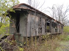 I could live in an old rail car... like the Boxcar Children, but not quite this old...  okay, probably not, but still...