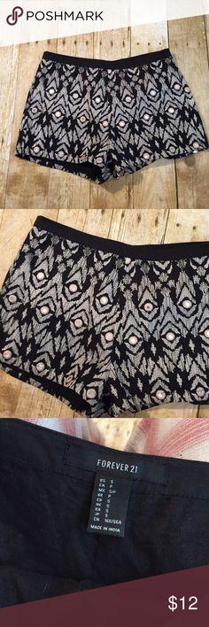 *flash sale* Forever 21 mirror shorts Black mirror shorts Forever 21 Shorts Bermudas