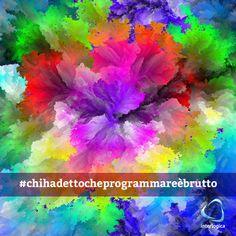 """Questa immagine viene da una """"sfida programmatoria"""" che consiste nel creare immagini che contengano, solo una volta, tutti i colori possibili nello spettro del computer:  #chihadettocheprogrammareèbrutto #interlogica #geek #sfida #programmatoria #colors #computer #spettro"""