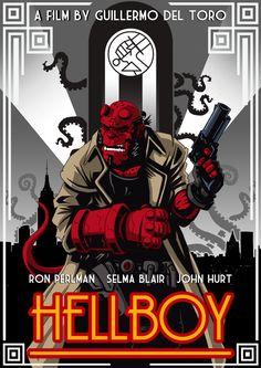 Art Deco Hellboy by RAAKILE.deviantart.com on @deviantART