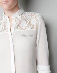 white chiffon blouse - Google Search