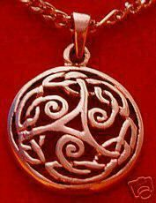 New Rose Gold Plated CELTIC wicca TRISKELE Pagan Charm Sterling Silver 925 Jewelry