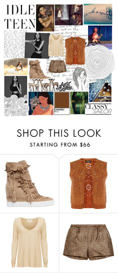 """""""Pocahontas-Alternative"""" by blueangel16-001 ❤ liked on Polyvore featuring Disney, Casadei, Dorothy Perkins, American Vintage and RED Valentino"""