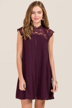 Torin Crochet Neckline Shift Dress | francesca's