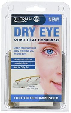 Thermalon Dry Eye Moist Heat Compress 1 ea (Pack of 2):   The Thermalon Dry Eye Compress contains patented Hydro PearlsTM that continuously absorb and store water molecules from the air. When microwaves, the Compress releases clean soothing moist heat. There is no need to add water, no waiting and no mess!