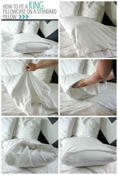 A King Pillowcase On A Standard Pillow