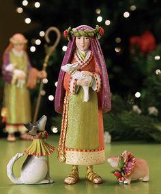 NEW!! KrinklesOnline by Patience Brewster - 2012 Krinkles Nativity Shepherd Girl and Collie Christmas Figurines