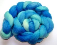 Sale 20 Percent Off  Hand Dyed Cheviot Wool by SeeJayneKnitYarns (Craft Supplies & Tools, Fiber & Textile Art Supplies, Yarn & Roving, Roving, spinning supplies, combed top, knitting, cheviot wool, hand painted, handspun yarn, hand dyed roving, spinning fiber, breaking bad, meth blue, sky blue, aqua, walter white)