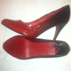 Red sole red ombré heels Brand is wanted. Super cute. Size 8 Wanted Shoes Heels