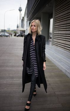 TEXTURES & PRINTS w/ ASHLEY B - How insane is this maxi coat by Ashley B? After calling my grey maxi coat by Marc Cain my own, I was looking for a similar..