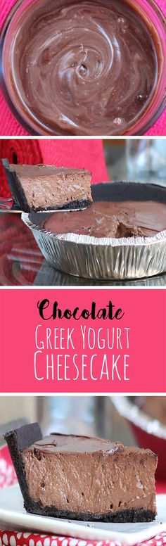 Chocolate Greek Yogurt Pie - Ingredients: 2 cups greek yogurt, 1/2 cup cocoa powder, 1 1/2 tsp vanilla extract, 1/4 cup... Full recipe: @choccoveredkt http://chocolatecoveredkatie.com/2013/07/26/chocolate-greek-yogurt-pie/