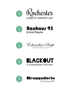 5 Fantastic Font Combinations #typography #typeface