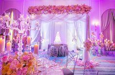 DRAPES <3 Décoration mariage thème rose Romatique Conte de fées Fleurs