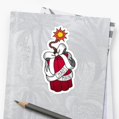 A dynamite sticker for people who like to play as Junkrat in Overwatch, it could decorate your laptop, drink bottle or schoolbooks Gamer Girls, Light Art, Overwatch, Game Art, Red And White, Stationery, Laptop, Snoopy, Bows