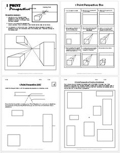 sketch 1 Point Perspective Lesson Plan Boxes - Create Art with ME Perspective Drawing Lessons, Perspective Art, Middle School Art, Art School, High School, Architecture Drawing Plan, Art Handouts, Art Lessons Elementary, Art Education Lessons