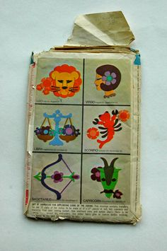 Vintage Zodiac Sewn Appliqué Simplicity Patterns by ShanonDiamond, $12.00