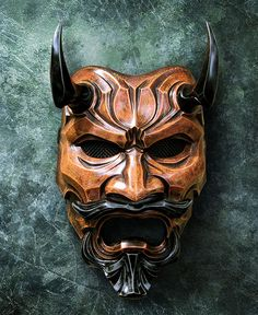 Uncle Oni Mask 314 Japanese Noh Style Fiberglass by TheDarkMask