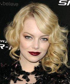 So pretty. I love Emma Stone's hair.