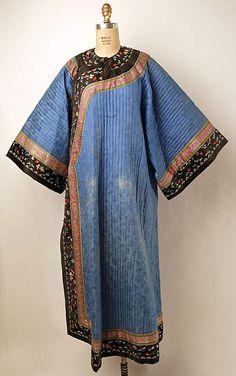 Late 19th Century Coat Culture: Chinese Medium: silk, metal, cotton