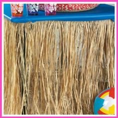 I have, grass skirts maybe for sign -in table only. Don't like bright blue paired thou