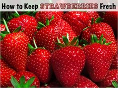 To keep strawberries fresh longer in the refrigerator, use 1 Part White Vinegar to 10 Parts Water.  Soak the strawberries, leaves and all in the vinegar/water mixture for a few minutes.  Drain in a colander until they are completely dry.  Place in an uncovered bowl in the refrigerator.  The vinegar/water mixture kills any mold spores on the strawberries and keeps them fresh longer.  The vinegar does not affect the taste.  Also works for blueberries, raspberries, blackberries...
