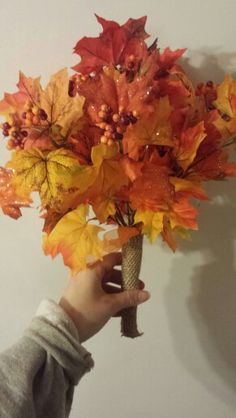 Fall wedding brides maides hand made