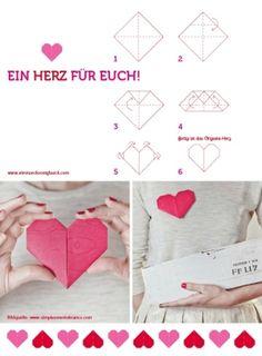 DIY origami heart