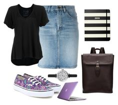 """""""Capital University"""" by smefford on Polyvore featuring Yves Saint Laurent, Vans, Speck, Free People, Shinola, Kate Spade, women's clothing, women, female and woman"""
