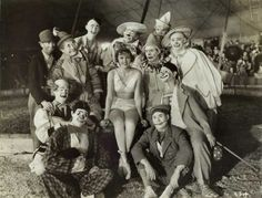 "circus 1920s | Clowns with Circus Performer,"" ca. 1920-1940, a photograph from ..."