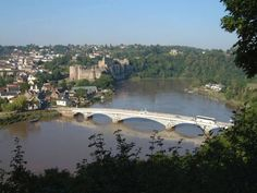 The old Chepstow Wye bridge, linking Chepstow market town, Monmouthshire Wales to Gloucestershire, England. Chepstow castle & town in background. Severn Bridge, Forest Of Dean, Visit Wales, British Countryside, Britain, United Kingdom, England, River, Places