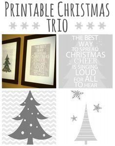 Set of Three Wall Art Christmas Printables