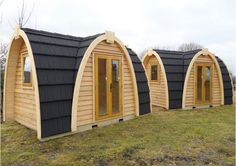 The Podhouses are made using FSC certified wood and are made to withstand the elements