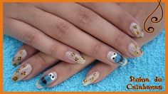 Cookie monster from The Muppets. I looove them Cookie monster nails Monster Inc Nails, Cookie Monster Nails, Anubis, Deviantart, Cookies, Crack Crackers, Biscuits, Cookie Recipes, Cookie