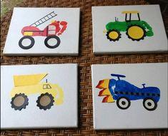 Elegant Vaderdag knutselen – original knee joint and gifts with a present - Kleinkind Basteln Kids Crafts, Creative Crafts, Easy Crafts, Craft Projects, Art Vintage, Footprint Art, Diy Father's Day Gifts, Truck Art, Handprint Art
