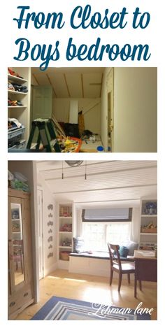 Wish you had another bedroom?  Come check out how we turned our master bedroom closet into a boys bedroom for our youngest.