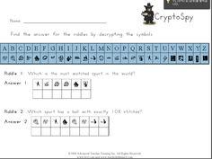 위의 암호표를 화이트보드나 워크시트에 출력하여 아이들에게 숫자와 알파벳 철자가 대응한다는 것을 설명해준다. 그리고 아이들이 배운 단어를 숫자 암호로 바꾸어 문제를 낸다.  예를 들어 8-1-16-16-25 이렇게 문제를 내면 아이들이 암호를 해독하여 happy! 라고 답을 한다. 아이들이 적을 경우 개인별로 문제를 내고 좋고 많으면 팀으로 나누어 풀게 한다. 배운 단어를 충분히 복습할 수 있도록 여러 문제를 내어주고 아이들이 암호를 작성해서 서로 문제를 내고 풀게해도 좋다는 장점이 있다.