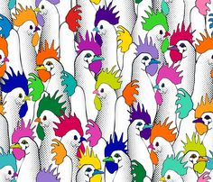 Chicken POPs fabric by juliesfabrics on Spoonflower - custom fabric http://www.spoonflower.com/fabric/1987895