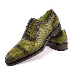Mens Alligator Leather Cap Toe Lace-up Oxford Classic Modern Business Dress Shoes Casual Leather Shoes, Leather Cap, Casual Shoes, Dress Casual, Hot Shoes, Shoes Men, Men's Shoes, Dress Shoes, Elegant Man