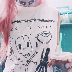 One of our favourite fashion bloggers @amyvalentinex out in Snooze Tank. WWW.DROPDEAD.CO #dropdead #dds15