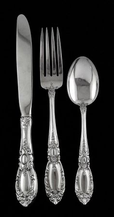 """King Richard by Towle Sterling Silver Cold Meat Fork 8/"""" Serving"""