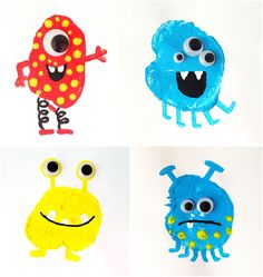 Potato Printing Monsters for everyday fun. Perfect for a our Toys Cambridge English unit.