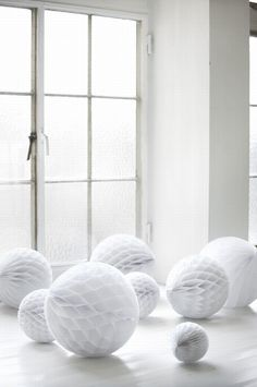 giant white paper balls (via Ferm Living)